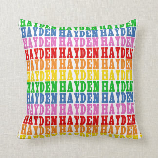 Rainbow Hayden Throw Pillow
