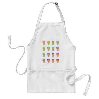 rainbow heads adult apron
