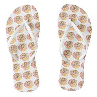 Rainbow Healing Hope Spiral Flip Flops