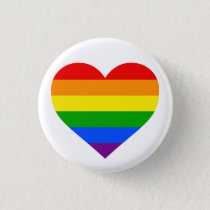"""RAINBOW HEART"" 1.25-inch Button"