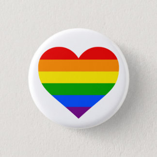 """RAINBOW HEART"" 1.25-inch Button"
