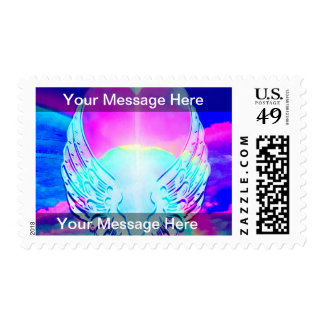 Rainbow Heart and Angel Wings Stamps