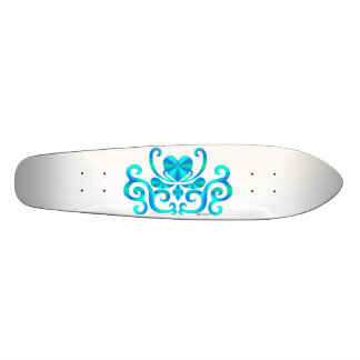 Rainbow Heart and Lily Skateboard Deck