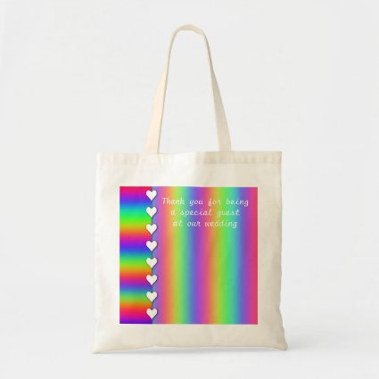 Rainbow Heart and Striped Wedding Bags
