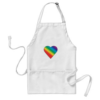 Rainbow heart aprons