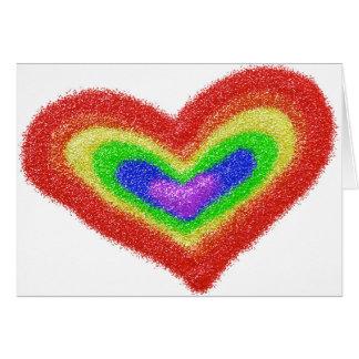 Rainbow heart bar mitzvah card
