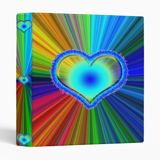 Rainbow Heart Binder