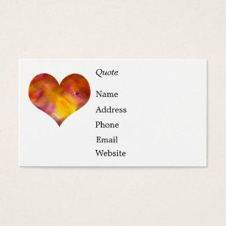 Rainbow - Heart - Business Card