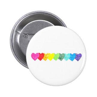 Rainbow Heart Button (non-faded)