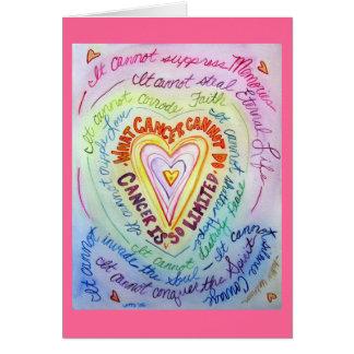 Rainbow Heart Cancer Cannot Do Greeting Cards