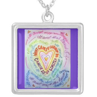 Rainbow Heart Cancer Cannot Do Necklace Jewelry
