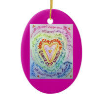 Rainbow Heart Cancer Cannot Do Ornament Customized