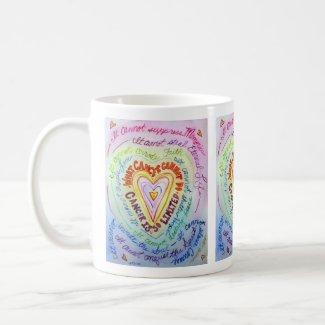 Rainbow Heart Cancer Cannot Poem Coffee Mug