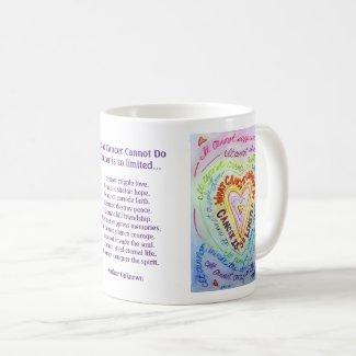 Rainbow Heart Cancer Cannot Poem Coffee Mugs