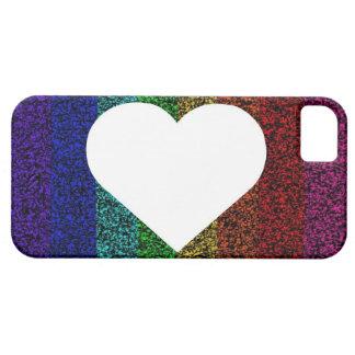 Rainbow Heart iPhone 5 Cases