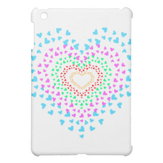 rainbow heart case for the iPad mini
