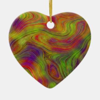 """Rainbow Heart"" Ceramic Ornament"