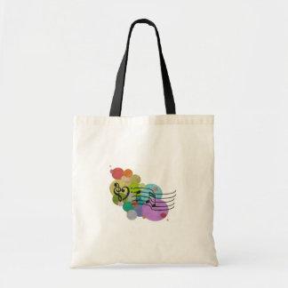 Rainbow Heart Clefs, music notes & polka dots bag