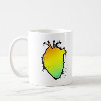 rainbow heart coffee mug
