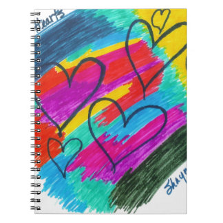 Rainbow heART Collection Spiral Note Book