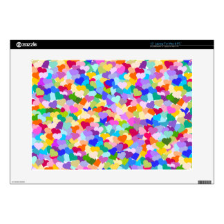 "Rainbow Heart Confetti 15"" Laptop Skins"