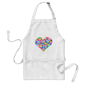 Rainbow Heart Confetti Adult Apron