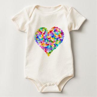 Rainbow Heart Confetti Baby Bodysuit