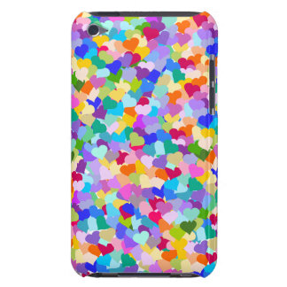 Rainbow Heart Confetti Barely There iPod Cover