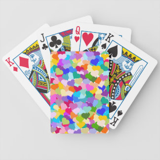 Rainbow Heart Confetti Bicycle Playing Cards