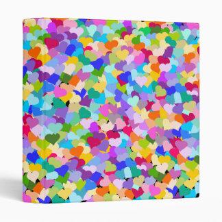 Rainbow Heart Confetti Binder