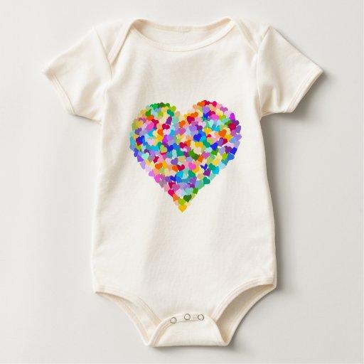 Rainbow Heart Confetti Bodysuits