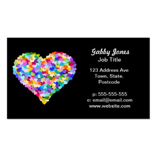 Rainbow Heart Confetti Double-Sided Standard Business Cards (Pack Of 100)