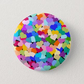 Rainbow Heart Confetti Button