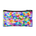 Rainbow Heart Confetti Cosmetic Bags