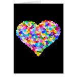 Rainbow Heart Confetti Greeting Card