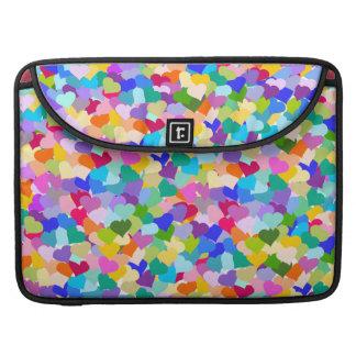Rainbow Heart Confetti MacBook Pro Sleeve