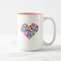Rainbow Heart Confetti Mug
