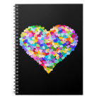 Rainbow Heart Confetti Notebook