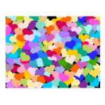 Rainbow Heart Confetti Postcard