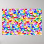 Rainbow Heart Confetti Poster