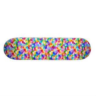 Rainbow Heart Confetti Skateboard