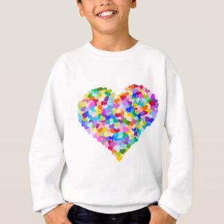 Rainbow Heart Confetti Sweatshirt