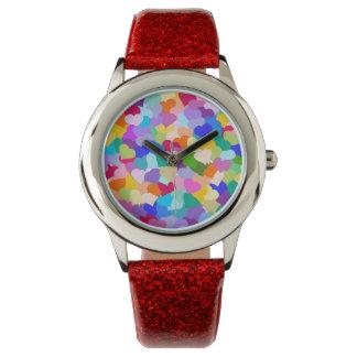 Rainbow Heart Confetti Wrist Watch