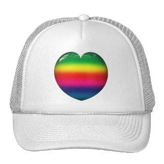Rainbow Heart Hat