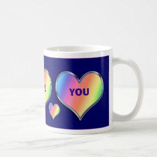"Rainbow Heart ""I Love You"" Valentine Mug"
