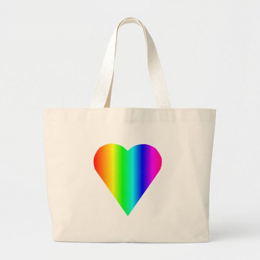 Rainbow Heart Jumbo Tote Bag