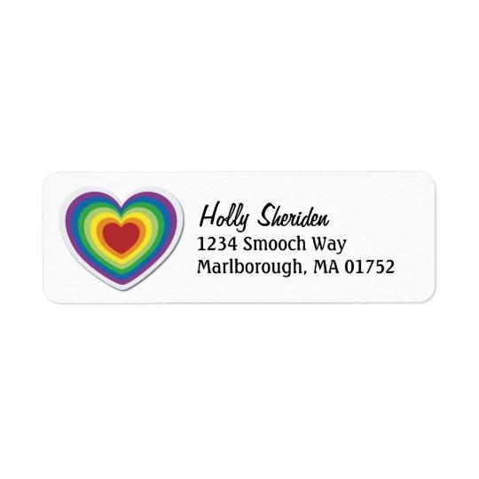 Rainbow Heart Label