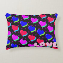 Rainbow Heart Love Accent Pillow