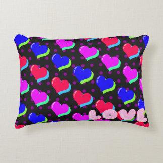 Rainbow Heart Love Accent Pillow