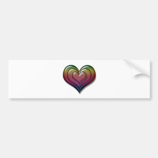 Rainbow Heart Love Cool Cute Bumper Sticker